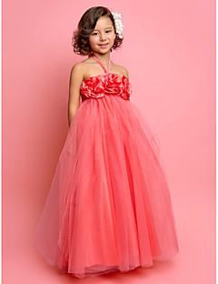 billige Skjørt-A-line prinsesse gulvlengde blomst jente kjole - tulle ermeløs halter med blomst av lan ting bride®