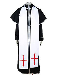 billige Halloweenkostymer-Misjonær Cosplay Kostumer Party-kostyme Herre Halloween Festival / høytid Drakter Svart Lapper