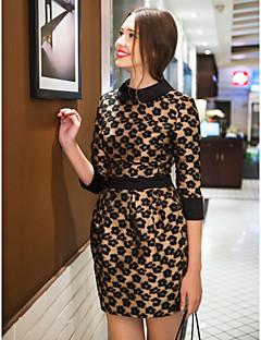 Платье с воротником и манжетами как на рубашке