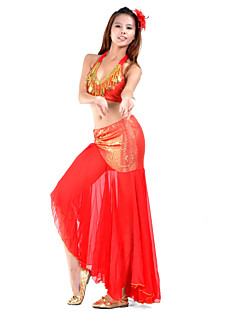 billige Karneval Kostumer-Magedans Drakter Dame Trening Chiffon Perlearbeid