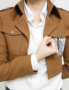 """billige Anime Kostymer-Inspirert av Attack on Titan Eren Jager Anime  """"Cosplay-kostymer"""" Cosplay Topper / Underdele Trykt mønster Langermet Frakk Til Herre Halloween-kostymer"""