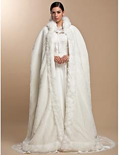 Coprispalle in pelliccia / Wraps Wedding / Mantelle con cappuccio e poncho Mantelline Maniche lunghe Pelliccia ecologica Da sera Aperte
