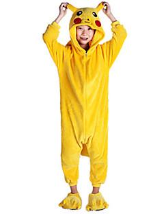 KIGURUMI Yöpuvut Pika Pika Asu Kigurumi Trikoot / Kokopuku Cosplay Festivaali / loma Animal Sleepwear Halloween Patchwork varten Lapset