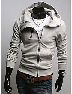 HCZ Pánské Velká velikost Slim Fit Light Gray svetr / Coat y017-3