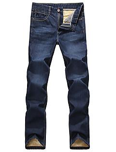 billige Herrebukser og -shorts-Herre Jeans Bukser Bomullsblanding Denimstoff Ensfarget