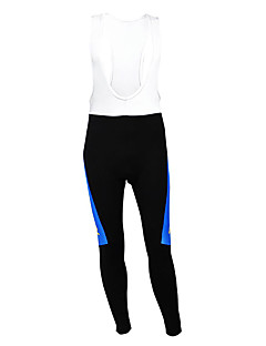 cheap Cycling Pants, Shorts, Tights-Kooplus Cycling Bib Tights Men's Bike Tights Bottoms Thermal / Warm Fleece Lining Moisture Permeability Wearable Breathable Polyester