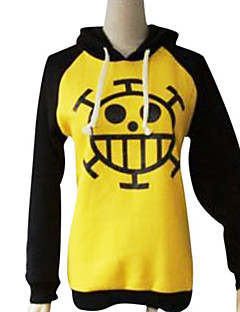 Inspired by One Piece Trafalgar Law Anime Cosplay Costumes Cosplay Hoodies Print Long Sleeves Coat For Male Female