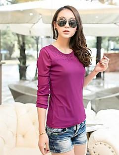 billige Lagersalg-T-skjorte Dame-Ensfarget Gatemote