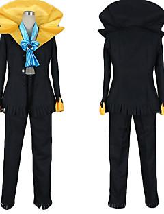 """Inspirert av One Piece Brook Anime  """"Cosplay-kostymer"""" Cosplay Klær Fargeblokk Frakk Bukser Slips Til Mann"""