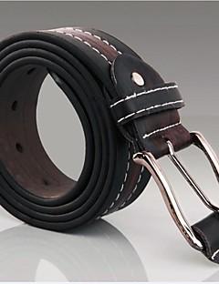 New Mote Herre Faux Leather Shape Metal Buckle Belt