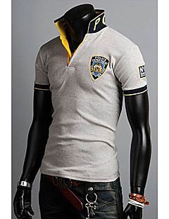 メンズの韓国語バージョン刺繍ポロTシャツ