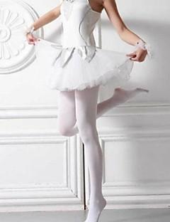 kvinners sokker& strømpebukser med elastisk massiv panty, fløyel solid hvit