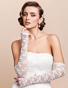 blonder opera lengde hanske brude hansker med broderi elegant stil