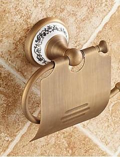 トイレットペーパーホルダー / アンティーク真鍮 セラミック /アンティーク