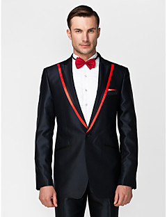 cheap Tuxedos-Tuxedos Tailored Fit Standard Fit Collar Slim Notch Peak One-Button Single Breasted One-button Cotton Wool & Polyester Blend Solid