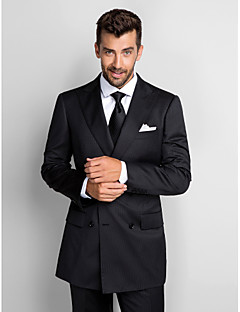 Solid Standard Fit Polyester Suit - Peak Single Breasted Two-buttons