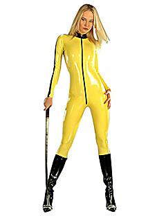 billige Voksenkostymer-Ninja Cosplay Kostumer Party-kostyme Dame Halloween Karneval Festival / høytid Halloween-kostymer Drakter Ensfarget