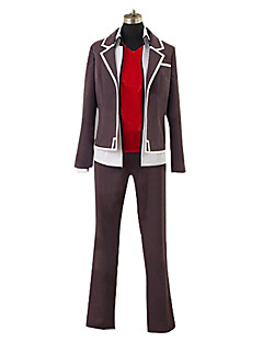 cheap Anime Cosplay-Inspired by High School D×D Cosplay Anime Cosplay Costumes Cosplay Suits Patchwork Coat Vest Pants For Men's