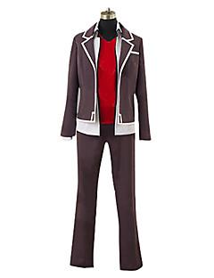 levne Anime kostýmy-Inspirovaný High School D×D Cosplay Anime Cosplay kostýmy Cosplay šaty Patchwork Kabát Vesta Kalhoty Pro Pánské