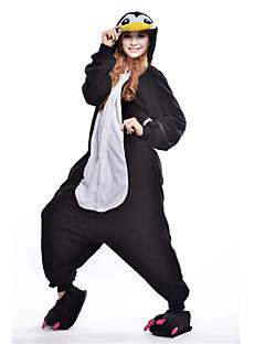 billige Kigurumi-Kigurumi-pysjamas Pingvin Onesie-pysjamas Kostume Polar Fleece Svart Cosplay Til Pysjamas med dyremotiv Tegnefilm Halloween Festival /