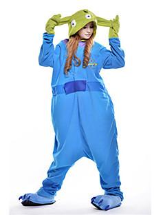 billige Kigurumi-Voksne Kigurumi-pysjamas Monster Blå Monster Onesie-pysjamas Polar Fleece Blå Cosplay Til Damer og Herrer Pysjamas med dyremotiv Tegnefilm Halloween Festival / høytid
