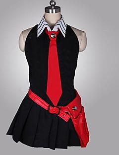 """Inspirert av Akame Ga Kill! Cosplay Anime  """"Cosplay-kostymer"""" Cosplay Klær Lapper Ermeløs Kjole Hansker Belte Slips Til Kvinnelig"""