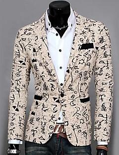 billige Herremote og klær-Bomull Trykt mønster Blazer Herre