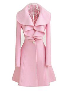 štíhlý přiléhající pás pasem zimní kabát bunda