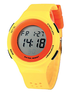 billige Børneure-Dame Digital Watch Quartz Digital 50 m Sportsur PU Bånd Digital Vedhæng Afslappet Sort / Blåt / Rød - Rød Blå Sort / Grøn To år Batteri Levetid / Maxell CR2025