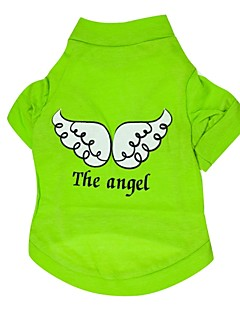 犬のための天使の羽のパターンのスタイルの綿のTシャツ(XS-L、分類された色)