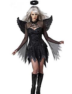 billige Halloweenkostymer-Fallen engel Cosplay Kostumer Party-kostyme Dame Halloween Karneval Festival / høytid Halloween-kostymer Ensfarget