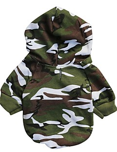 Cat Dog Hoodie Dog Clothes Fashion Camouflage Camouflage Color