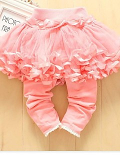 Girl's Delicate Satin Edging Net Veil Pants Baby Silks and Satins Hem Bottoming Culottes