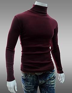 baratos Suéteres & Cardigans Masculinos-Homens Esportes Final de semana Vintage Delgado Pulôver - Sólido