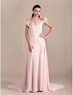 Linia -A Prințesă Trenă Court Șifon Seară Formală Rochie cu Mărgele Arc Flori de TS Couture®
