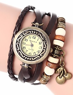cheap Bracelet Watches-Women's Ladies Bracelet Watch Quartz Quilted PU Leather Black / White / Blue Analog Bohemian Fashion - Red Green Blue One Year Battery Life / Jinli 377