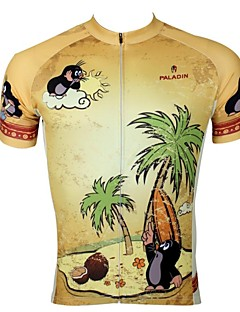 ILPALADINO Cycling Jersey Men's Short Sleeves Bike Jersey Top Quick Dry Ultraviolet Resistant Breathable 100% Polyester Animal Cartoon