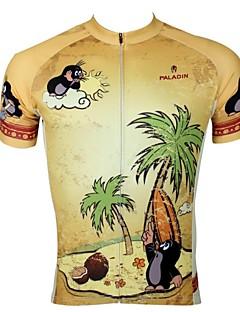 ILPALADINO Pyöräily jersey Miesten Lyhythihainen Pyörä Jersey Topit Nopea kuivuminen Ultraviolettisäteilyn kestävä Hengittävä 100%