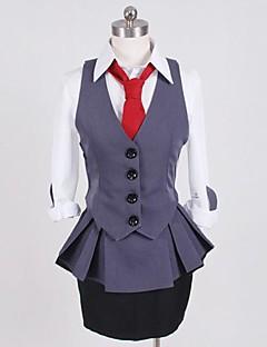 """billige Anime cosplay-Inspirert av Tokyo Ghoul Kirishima Touka Anime  """"Cosplay-kostymer"""" Cosplay Klær Lapper Vest Trøye Topp Skjørte Krage Til Dame"""