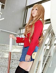 Cosplay Parykker Cosplay Taiga Aisaka Brun Lang Anime Cosplay Parykker 90 CM Varmeresistent Fiber Kvinnelig