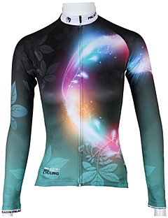 ILPALADINO Cycling Jersey Women's Long Sleeves Bike Jersey Tops Quick Dry Breathable 100% Polyester Floral / Botanical Spring Summer