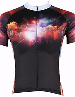 billige Sykkelklær-ILPALADINO Herre Kortermet Sykkeljersey Sykkel Jersey, Fort Tørring, Ultraviolet Motstandsdyktig, Pustende