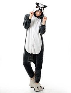 着ぐるみパジャマ ベア アライグマ 着ぐるみ パジャマ コスチューム フランネルフリース グレー コスプレ ために 成人 動物パジャマ 漫画 ハロウィン イベント/ホリデー