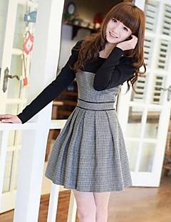 dorywczo kontrast kolorów kobieca sukienka JFS