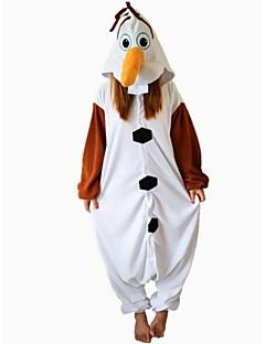 billige Kigurumi-Kigurumi-pysjamas Snømann Onesie-pysjamas Kostume Polar Fleece Brun Cosplay Til Pysjamas med dyremotiv Tegnefilm Halloween Festival /