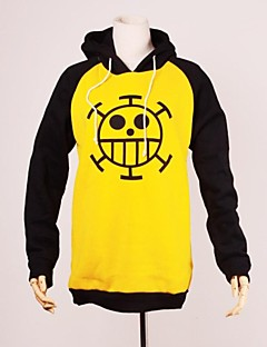 Inspired by One Piece Trafalgar Law Anime Cosplay Costumes Cosplay Hoodies Print Long Sleeve Top For Men's Halloween Costumes