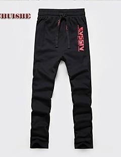 A bărbaților Chinos / Pantaloni Drăguți Bumbac Print / În Dungi Casual Negru / Roșu / Gri