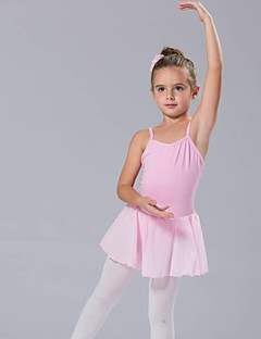 cheap Ballet Dance Wear-Kids' Dancewear Dresses Tutus Women's Cotton Bow(s) Sleeveless