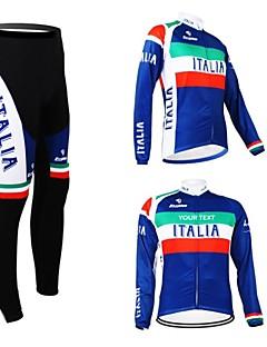 billige Sykkelklær-Kooplus Herre Dame Unisex Langermet Sykkeljersey med tights Sykkel Jersey Klessett Velg Farge 6 # Velg Farge 7 # Velg Farge 8 # Velg