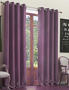 İki Panel Pencere Tedavi Neoklasik , Solid Oturma Odası Poli / Pamuk Karışımı Malzeme Perdeler Perdeler Ev dekorasyonu For pencere